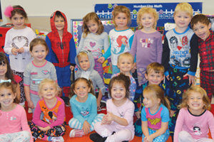 Preschool class group photo
