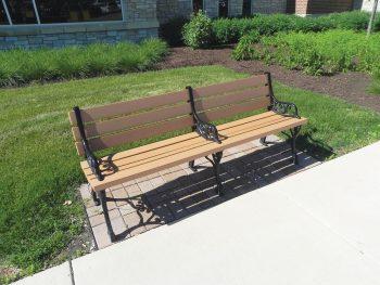 Example memorial bench